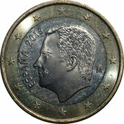 1 euro Philippe VI -  avers