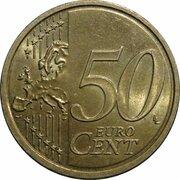 50 cents d'euro (2e carte, 1er type) -  revers