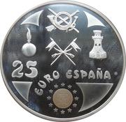 25 euros Hommage à l'armée – avers