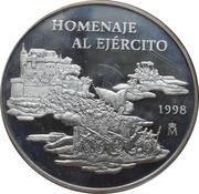 25 euros Hommage à l'armée – revers