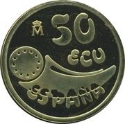 50 ECU (Philip II) – avers