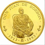 100 écus Don Juan de Borbón – avers