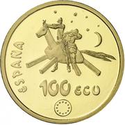 100 écus Cervantes – avers
