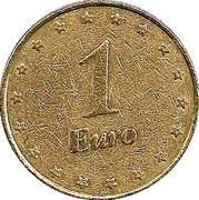 Token 1 Euro Casino La Toja – avers