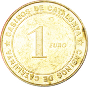 CASINOS OF CATALONIA 1 EURO – revers