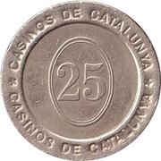 Game Token - Casinos de Catalunya (25 cent) – revers