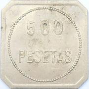 500 pesetas - jaton de casino – avers