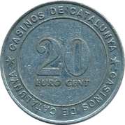 25 Euro Cent - Casinos de Catalunya – revers
