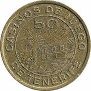50 Pesetas - Tenerife Gaming Casinos – avers