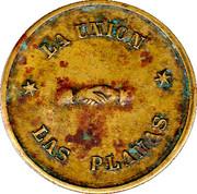 "5 Pesetas (""Las Planas d'Hostoles"" Cooperative Union Token; countermarked ""U"") – avers"