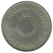 1 Peseta - Cooperativa El Reloj – avers