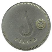 1 Peseta - Cooperativa El Reloj – revers