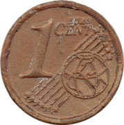 1 Euro Cent (plastic replica) – revers