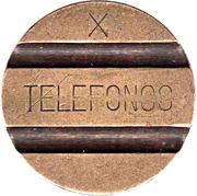 Jeton de téléphone - Telefonos (3 rainures ; X) – avers
