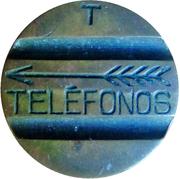 Jeton de téléphone - Telefonos (3 rainures ; T simple face) – avers