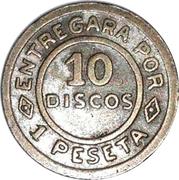 1 Peseta - Maval (10 Discos) – revers