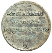 1/2 Real - Proclamation coin / token – avers