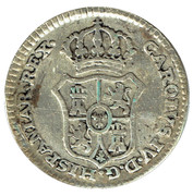 1/2 Real - Proclamation coin / token – revers