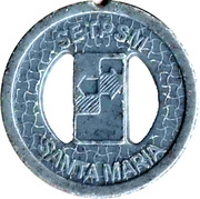 Transport Token - SETPSM Santa Maria (with two holes) – avers