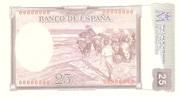 25 pesetas (Replica) – revers