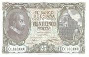 25 pesetas (Replica) – avers