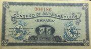 25 Céntimos (Consejo de Asturias y León) – avers