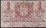 1 Peseta Ajuntament de Barcelona -  revers