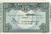50 Pesetas Bilbao -  avers