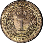 1 guilder - George III – revers