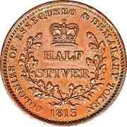 ½ stiver - George III – revers