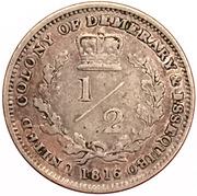 ½ guilder - George III – revers