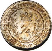 ¼ guilder - George III – revers