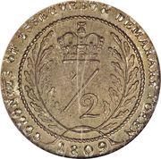 ½ guilder - George III -  revers