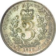 3 guilder - George III – revers