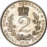 2 guilder - George III -  revers