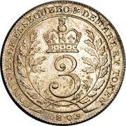 3 guilder - William IV – revers