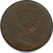 ½ stiver - George III -  avers