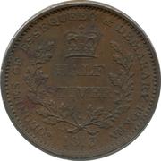 ½ stiver - George III -  revers
