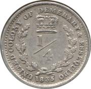 ¼ guilder - William IV -  revers