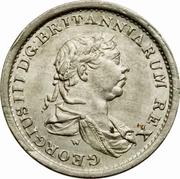 ¼ guilder - George III -  avers