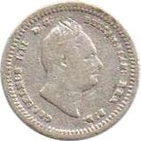⅛ guilder - William IV -  avers