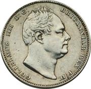 ½ guilder - William IV -  avers