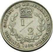 ½ guilder - William IV -  revers