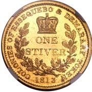 1 stiver - George III (essai) – revers