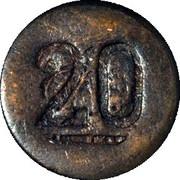 20 Centavos (Amecameca) – revers