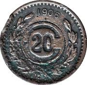20 Centavos (Toluca - Contremarque) – revers