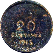 20 Centavos (Tenancingo) – revers