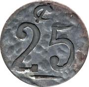 25 Centavos (Amecameca) – revers