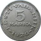 5 marka – revers