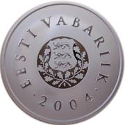 10 krooni (Drapeau national) – avers